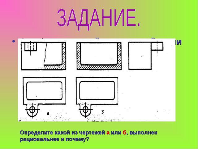 Определите какой из чертежей а или б, выполнен рациональнее и почему? Определ...
