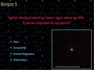 Сириус является одной из самых ярких звезд на небе. В каком созвездии он нахо