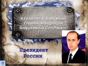 Кто является Верховным Главнокомандующим Вооруженных Сил России?