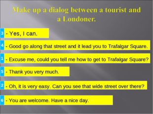 - Yes, I can. - Excuse me, could you tell me how to get to Trafalgar Square?