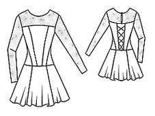 эскиз рейтингово платья 3