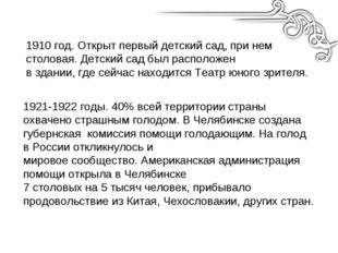 1921-1922 годы. 40% всей территории страны охвачено страшным голодом. В Челяб