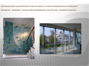 Экспозиция музея, расположенная в главном здании, не такая насыщенная как на