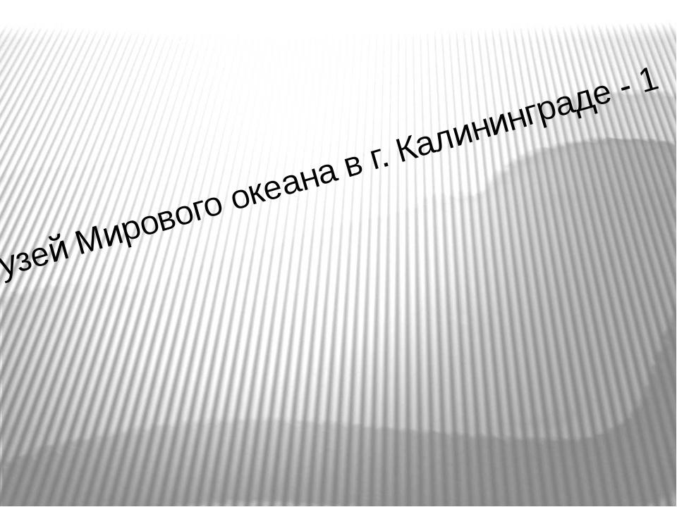 Музей Мирового океана в г. Калининграде - 1