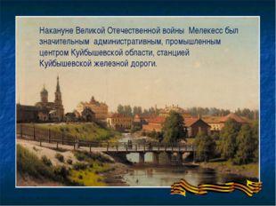 Накануне Великой Отечественной войны Мелекесс был значительным административн