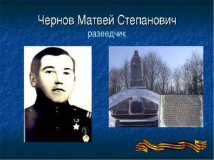 Чернов Матвей Степанович разведчик