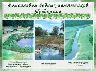 Фотоальбом водных памятников Предкамья Озеро Каракуль в Балтасинском районе н