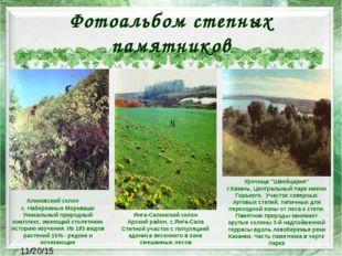 Фотоальбом степных памятников Кликовский склон с. Набережные Моркваши Уникал