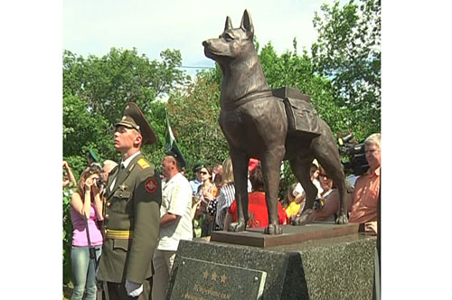 Памятник собакам-подрывникам