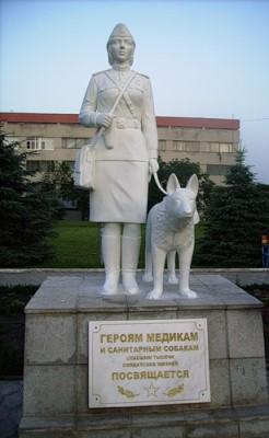 Памятник героям медикам и санитарным собакам