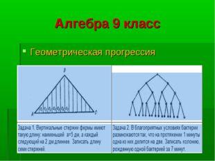 Алгебра 9 класс Геометрическая прогрессия