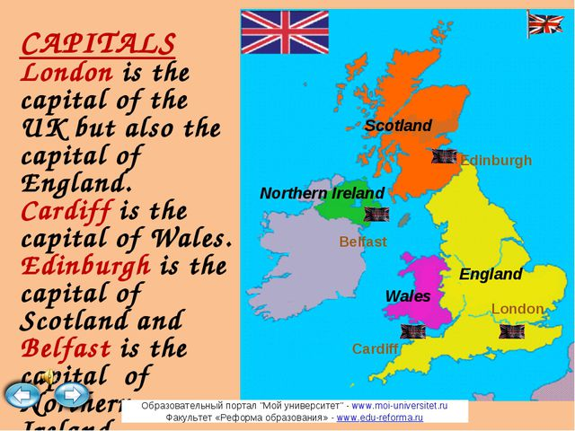 CAPITALS London is the capital of the UK but also the capital of England. Car...