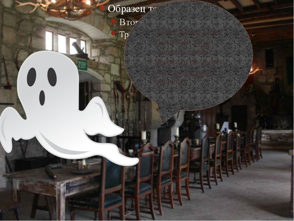Boo! I am one of the ghosts who lurks round the corner! Beware of the noises...