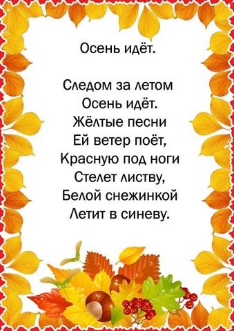 Детский праздник осени стих как устроиь детский праздник