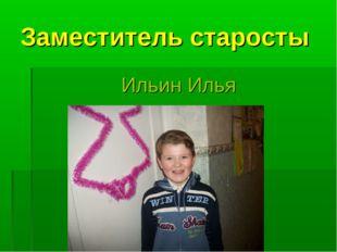 Заместитель старосты Ильин Илья