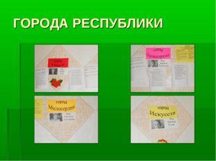 ГОРОДА РЕСПУБЛИКИ