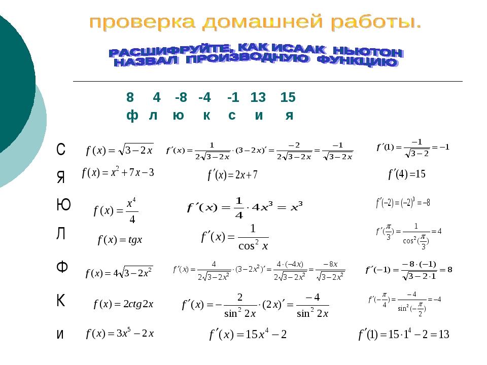 8 4 -8  -4-1 13 15 ф л ю к с и я