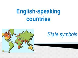 English-speaking countries State symbols