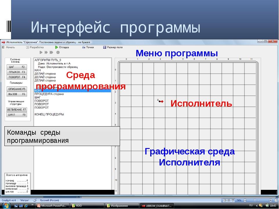 Параметры исполнителя Режим установки исполнителя Точка - координаты точки по...