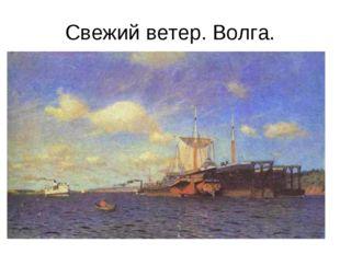 Свежий ветер. Волга.