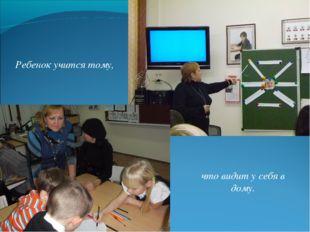 Ребенок учится тому, что видит у себя в дому.