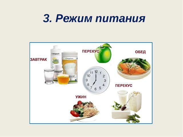 3. Режим питания