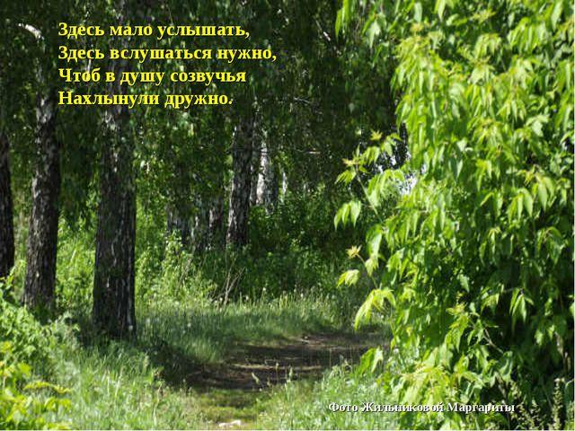Здесь мало услышать, Здесь вслушаться нужно, Чтоб в душу созвучья Нахлынули д...