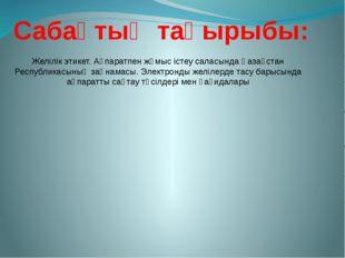 """2007 жылғы 11 қаңтардағы """"Ақпараттандыру туралы"""" Қазақстан Республикасының за"""