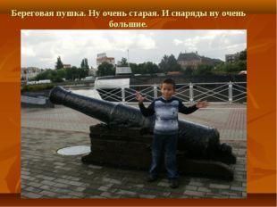 Береговая пушка. Ну очень старая. И снаряды ну очень большие.