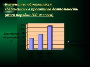 Количество обучающихся, вовлеченных в проектную деятельность (всего порядка 2