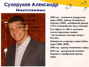 Сухоруков Александр Николаевич 2008 год - чемпион и рекордсмен мира (2008), п
