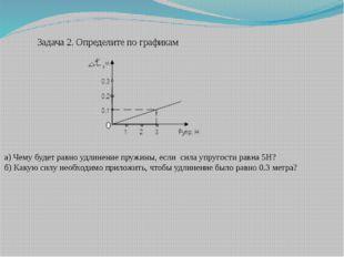 Задача 2. Определите по графикам а) Чему будет равно удлинение пружины, если