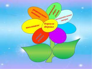 Формула здоровья рациональное питание личная гигиена закаливание активный об