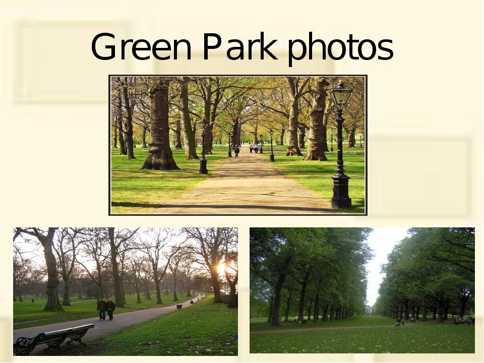 Green Park photos
