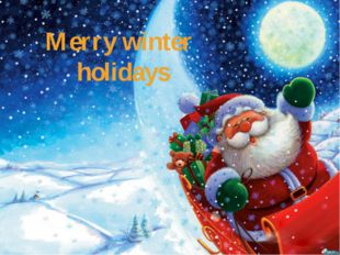 Merry winter holidays