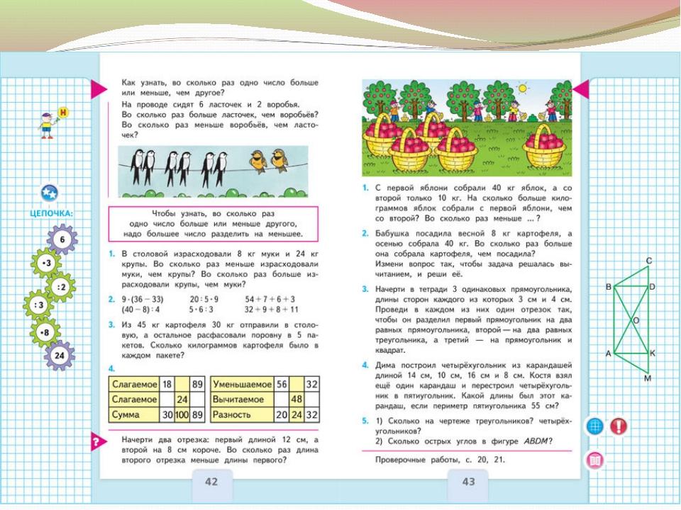 Программа 3 класс математика решебник школа россии