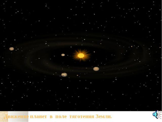 Движение планет в поле тяготения Земли.