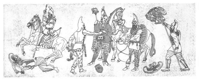 Месть царицы массагетов Томирис персидскому царю Киру.