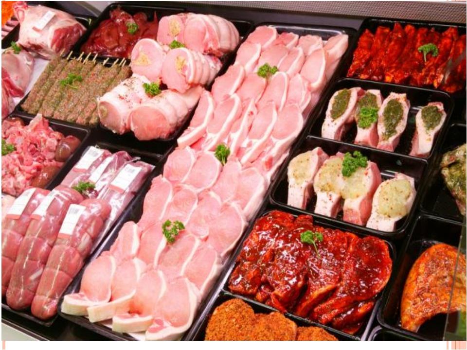 Отдел «Мясо и полуфабрикаты» Целесообразнее представлять изделия в направлени...