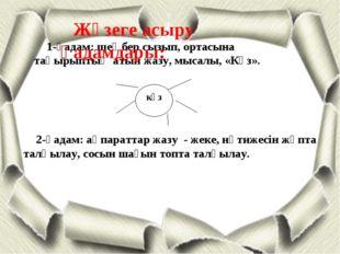 күз 1-қадам: шеңбер сызып, ортасына тақырыптың атын жазу, мысалы, «Күз». 2-қа