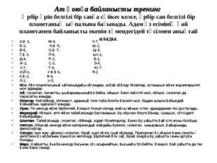 Ат қоюға байланысты тренинг Әрбір әріп белгілі бір санға сәйкес келсе, әрбір