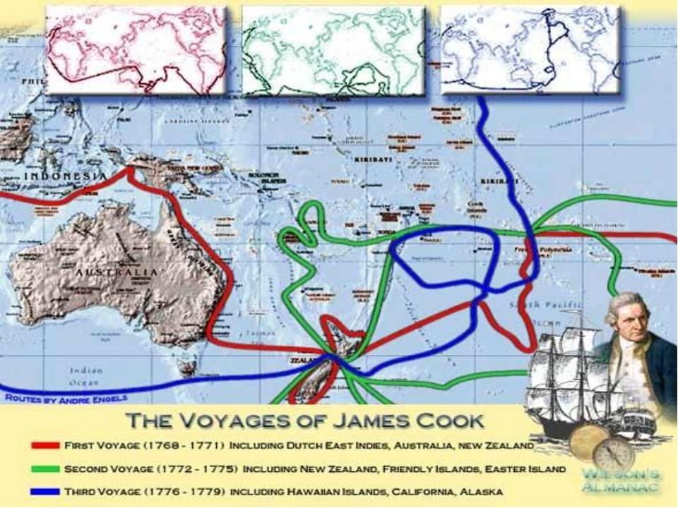 Три экспедиции Д.Кука