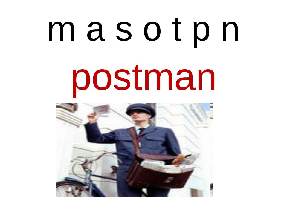 m a s o t p n postman