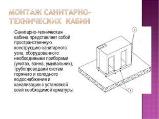 Санитарно-техническая кабина представляет собой пространственную конструкцию