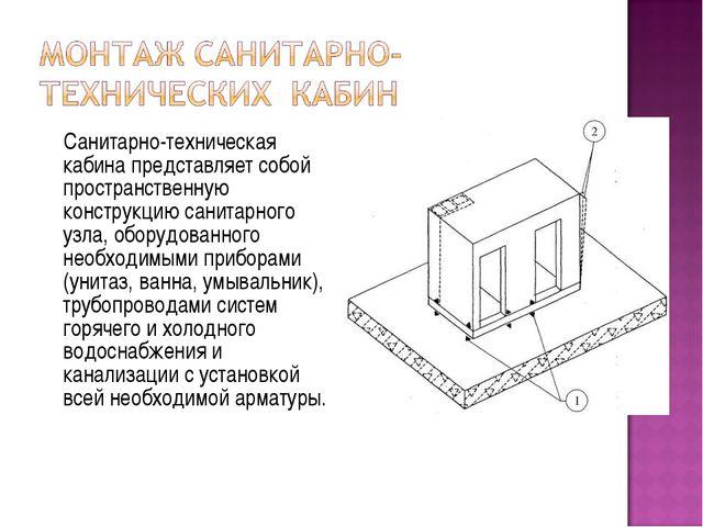 Санитарно-техническая кабина представляет собой пространственную конструкцию...