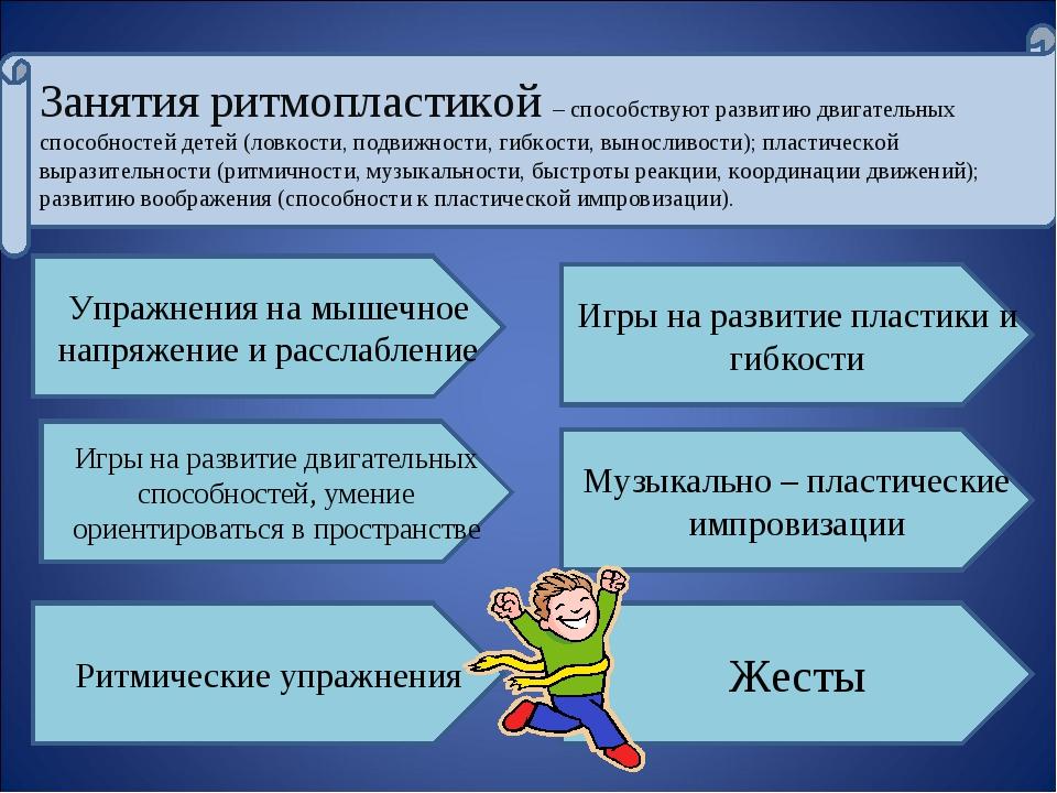 Занятия ритмопластикой – способствуют развитию двигательных способностей дете...