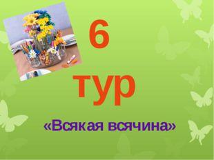 6 тур «Всякая всячина»