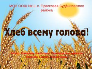 МОУ ООШ №11 с. Прасковея Будённовского района Автор: Панкеева Анжелика. Руков