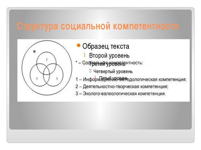 Структура социальной компетентности