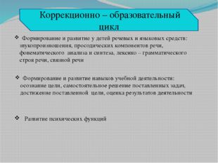 Формирование и развитие у детей речевых и языковых средств: звукопроизношени